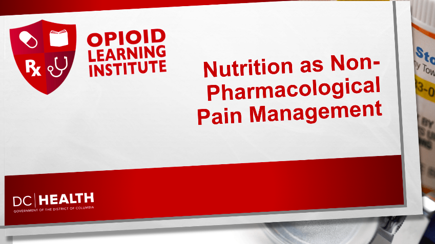 Nutrition for Pain Management