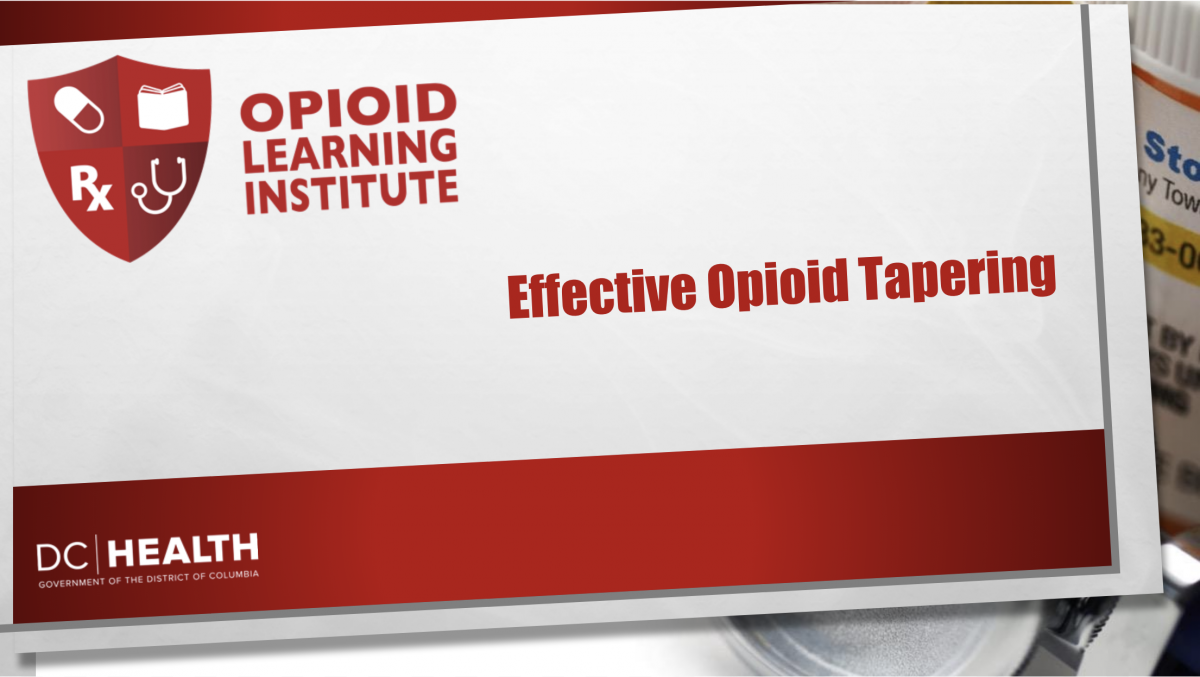Effective Opioid Tapering